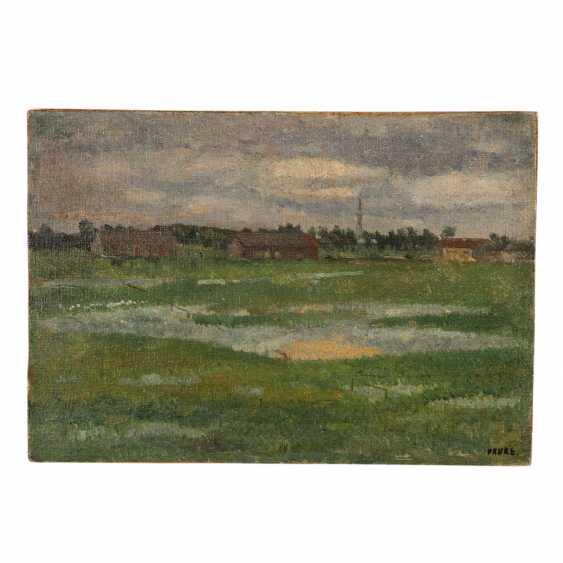 "FAURE, AMANDUS (Hamburg 1874-1931 Stuttgart), ""barracks in moorlands"", - photo 1"