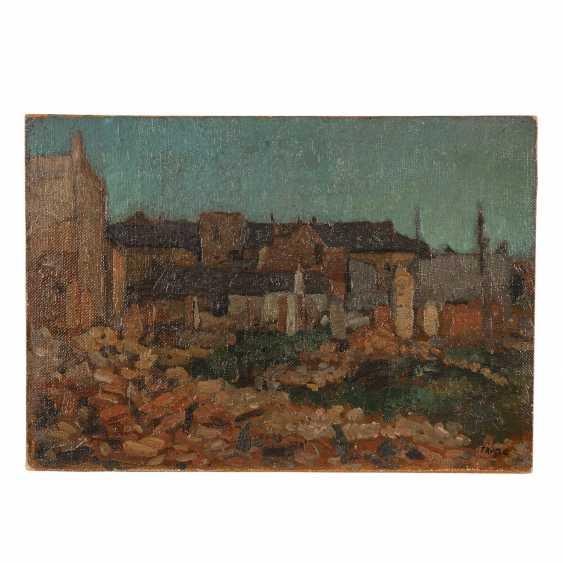 """FAURE, AMANDUS (Hamburg 1874-1931 Stuttgart), """"bullet-riddled houses of Flanders"""", - photo 1"""