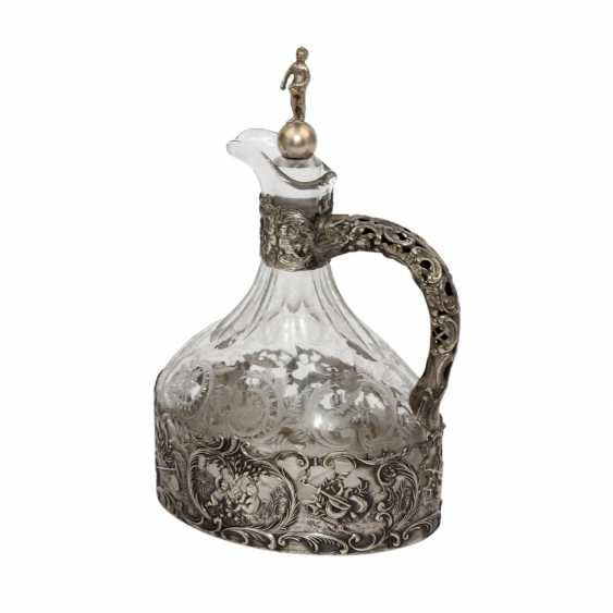 GERMAN glass decanter with silver cap, around 1900 - photo 1