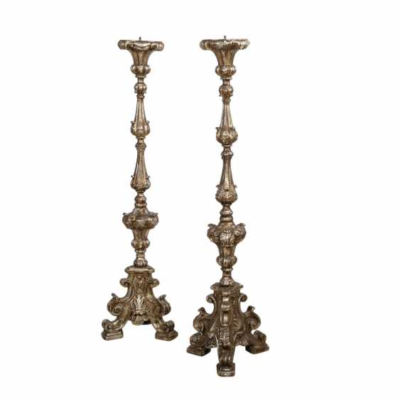 TWO Large altar candlesticks, IN the BAROQUE STYLE - photo 1