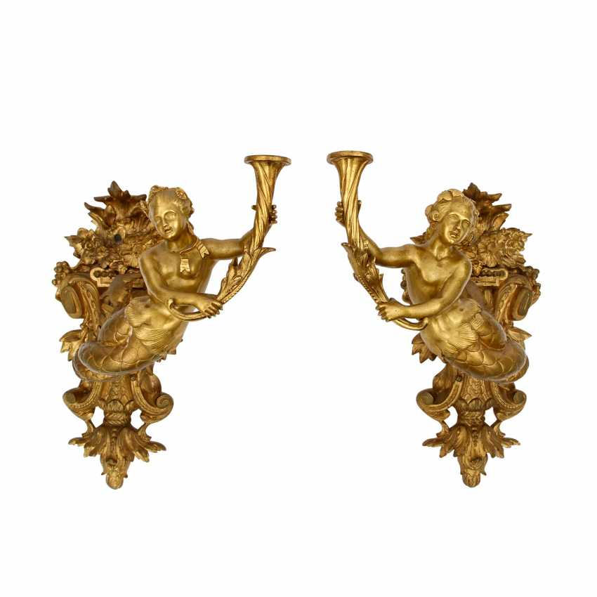 TWO SCONCES IN THE LOUIS XV STYLE - photo 1