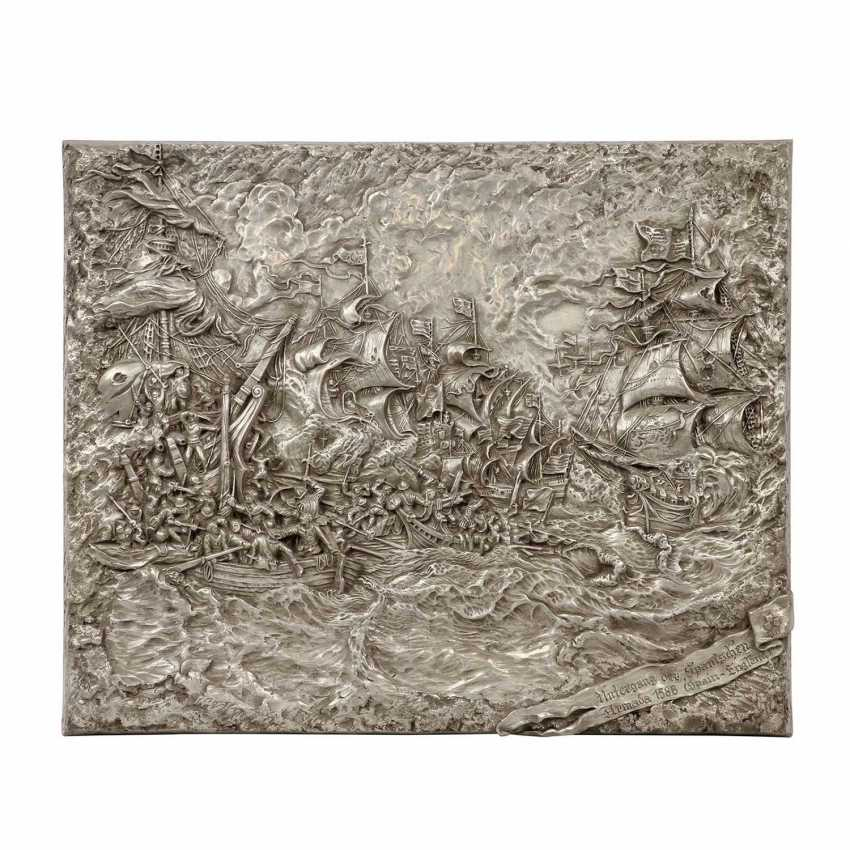 """Wall relief of the """"battle of 1588 the Spanish Armada / the Royal Navy"""" - photo 1"""