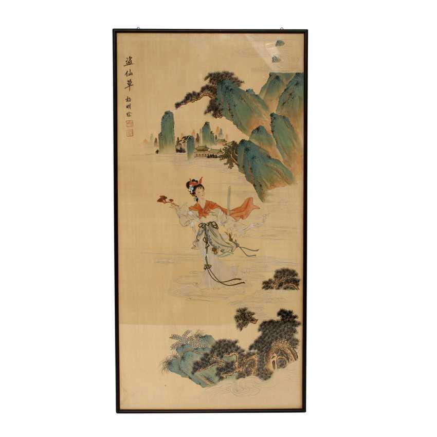 Painting. CHINA, 20. Century. - photo 1