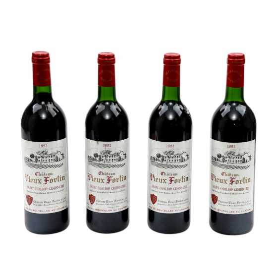4 Flaschen CHATEAU VIEUX FORTIN, ST-Emilion Grand Cru 1992 - photo 1