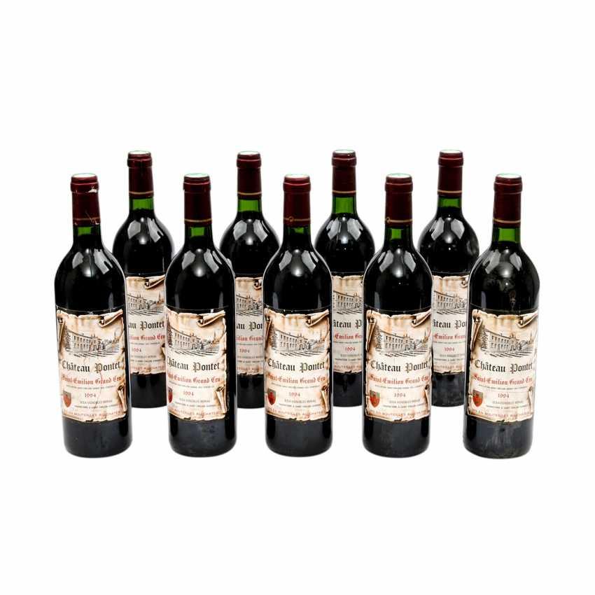 9 Bottles CHÂTEAU PONTET Saint-Emilion Grand Cru 1994 - photo 1