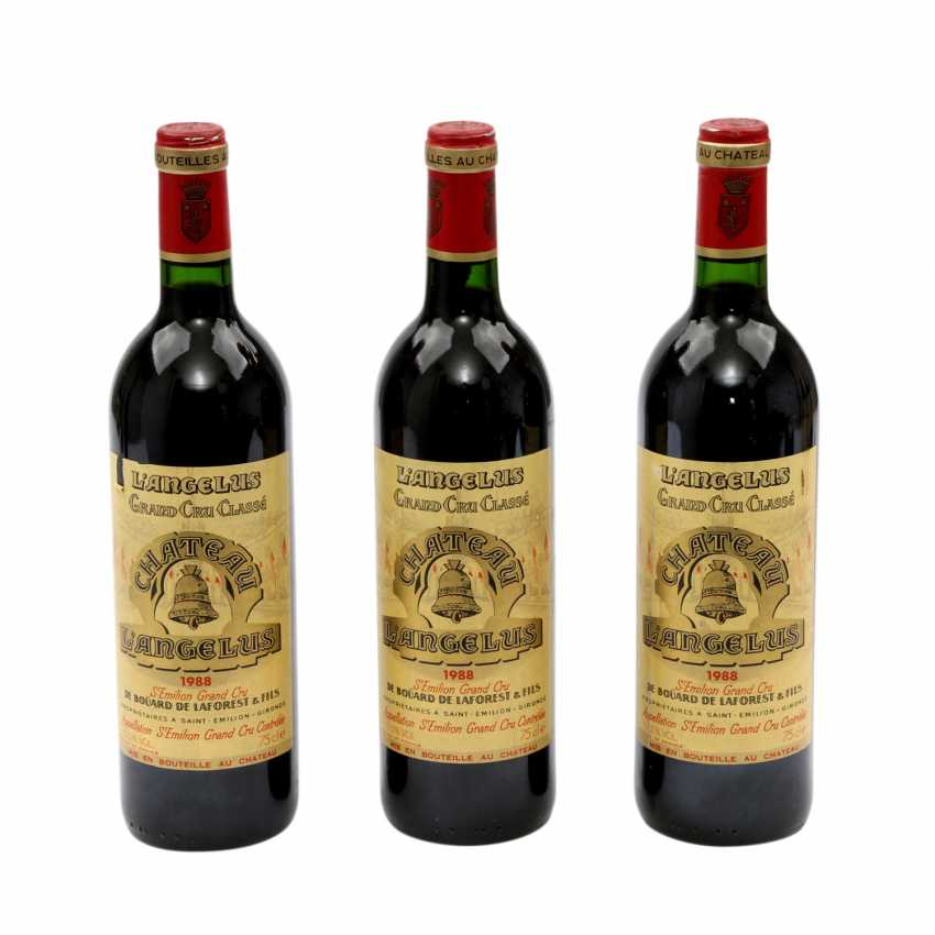 3 Flaschen CHATEAU ANGELUS St. Emilion Grand Cru 1988 - photo 1
