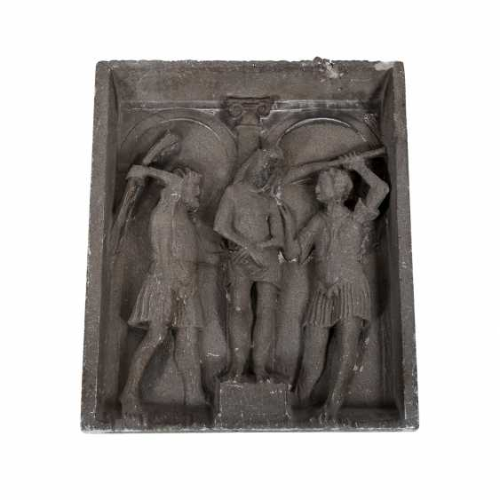 """Stone relief of the """"flagellation of Christ"""" - photo 1"""