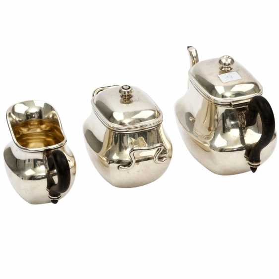 Teekern 3pcs., silver plated, 20. Century - photo 1