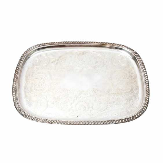 Large serving plate, silver plated, 20. Century - photo 1