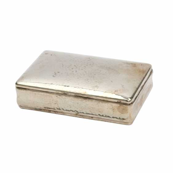 Cigar box, silver plated, 20. Century - photo 1