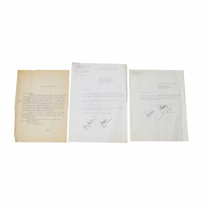 3 BRIEFE von Joséphine Baker und Doris Haug, 1971/72, mit Unterschrift, Joséphine Bakers, - photo 1