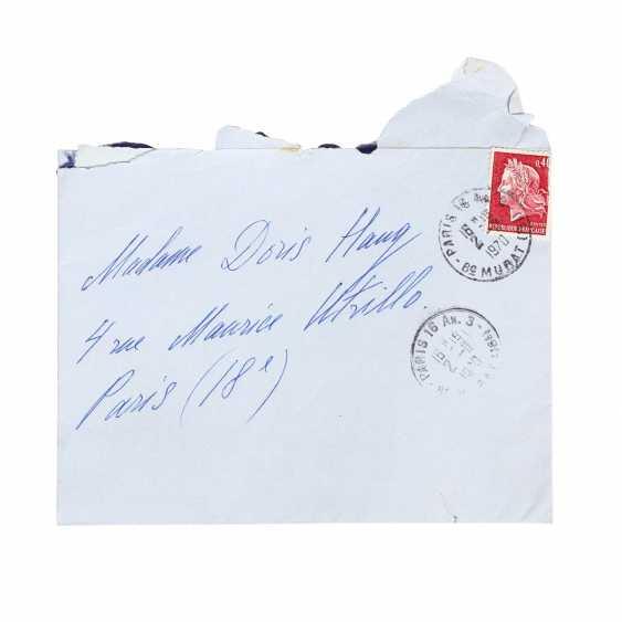 ERTÉ (Romain de Tirtoff; Petersburg 1892-1990 Paris), hand-written letter from the Erté, Doris Haug from the 24.10.1970, - photo 1