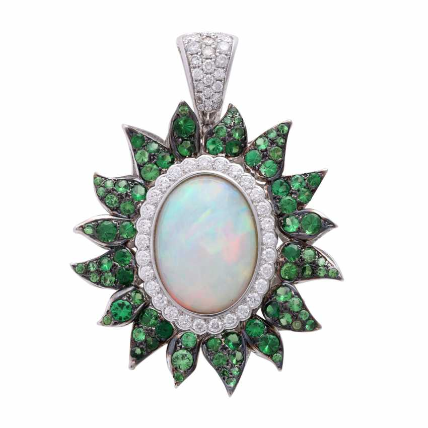Trailer with a 1 synthetic opal cabochon - photo 1