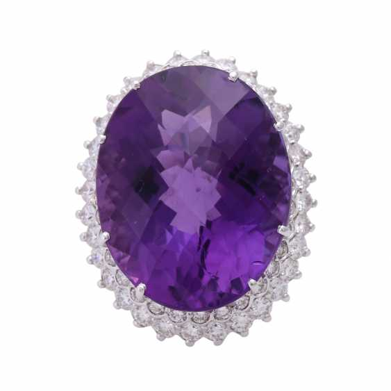 Ring with a large Amethyst - photo 1