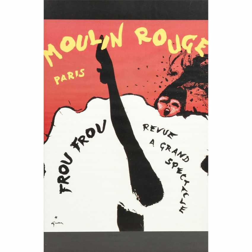 """Plakat zur Show """"FROU FROU Revue a grand Spectacle"""", Moulin Rouge, Paris 1960er Jahre, - photo 1"""
