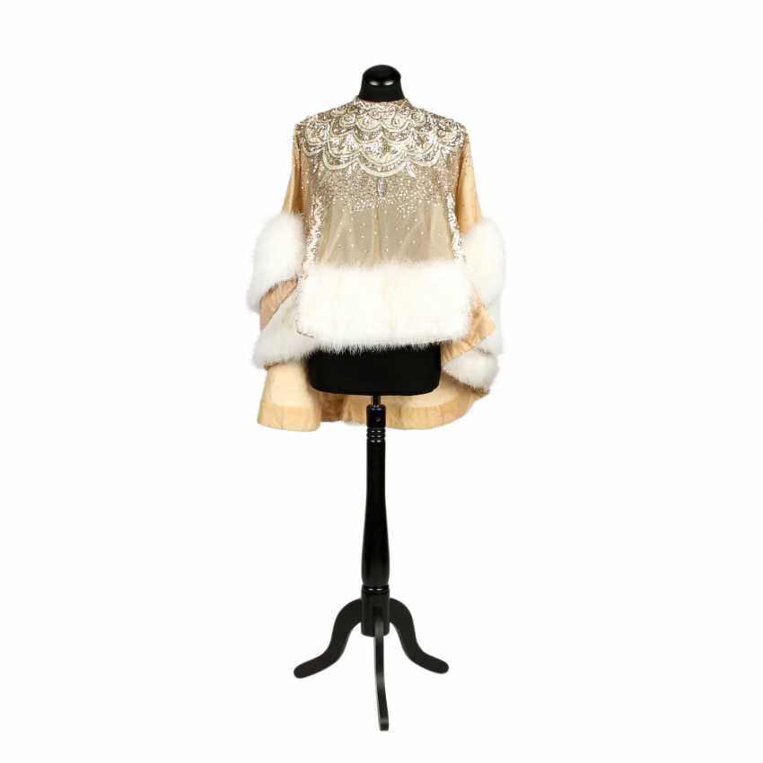 LES DORISS GIRLS sequin Cape with trimmed Sleeves, 1960s-1970s - photo 1