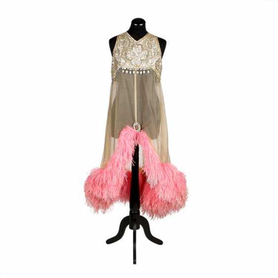 LES DORISS GIRLS show dress with sequin trim, 1960s-1970s - photo 1