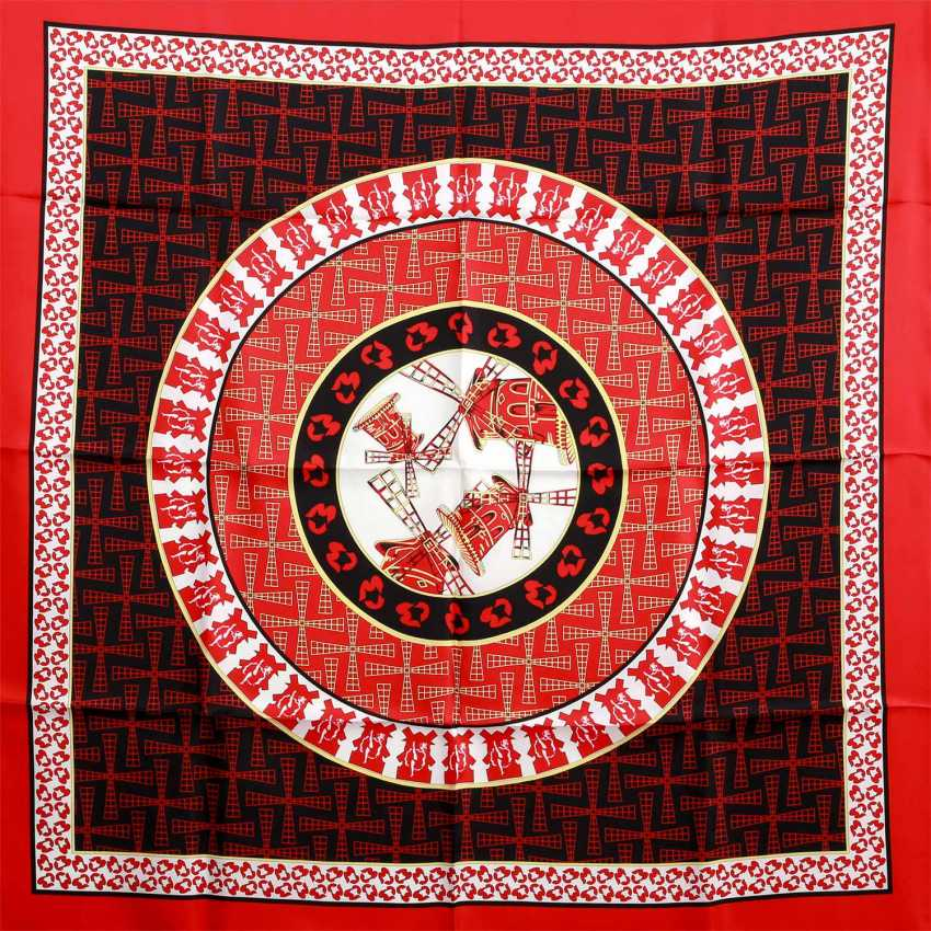 """Silk scarf with """"Moulin Rouge""""-motifs - photo 1"""