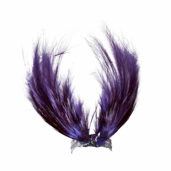 Headdress with ostrich feather trim, 20. Century - photo 1