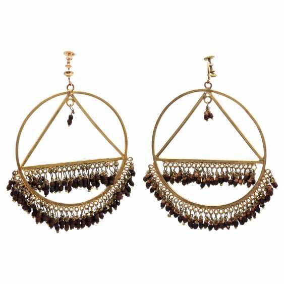 MOROCCO/LEBANON REVUE Pair of fashion jewelry earrings, 1960s - photo 1