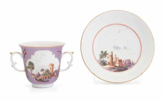2 Double Handle Cups, Meissen - photo 1