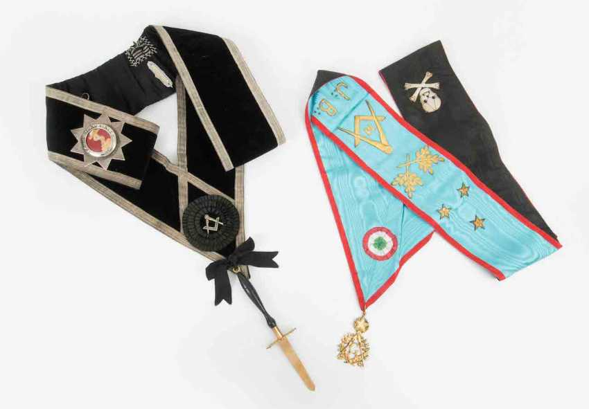 LoTiefe: 2 Masonic Bijoux with sashes - photo 1