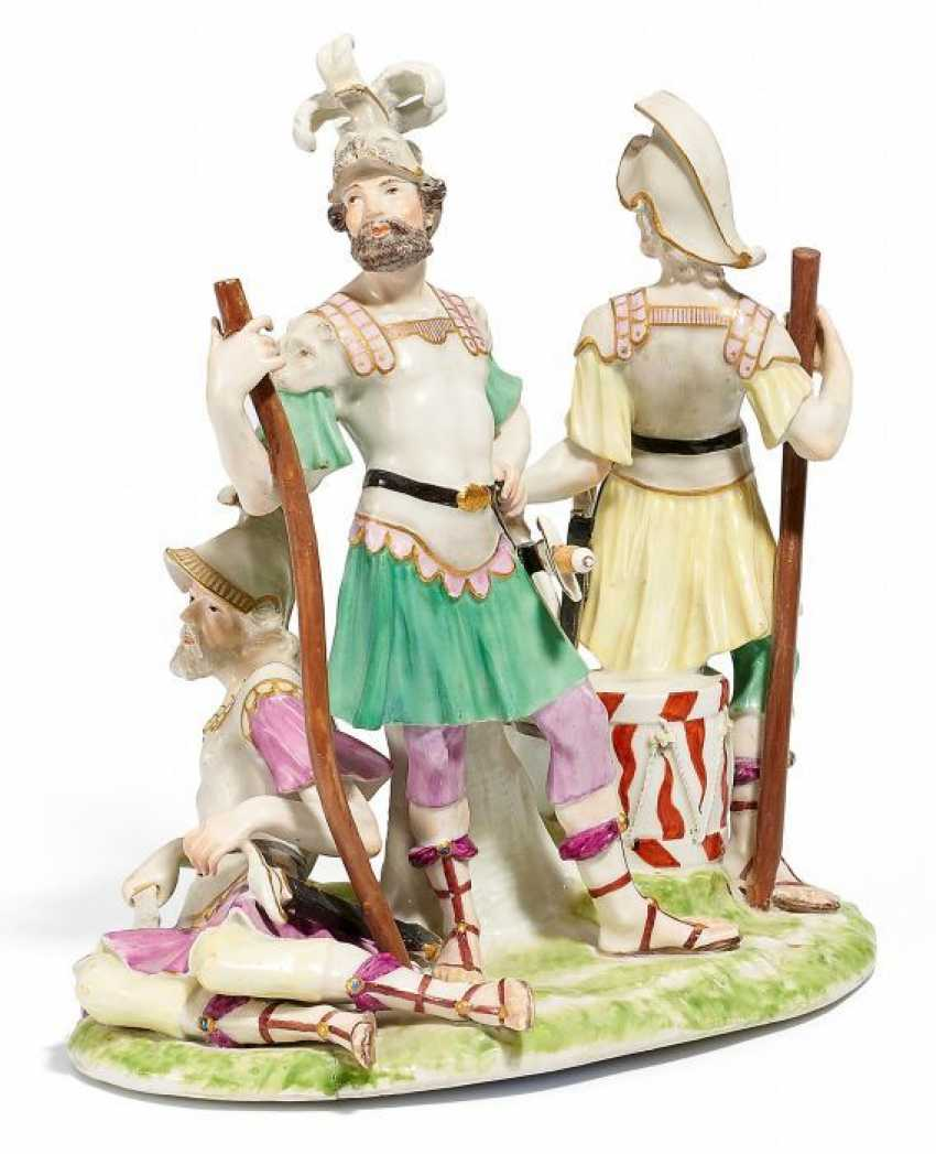 A GROUP OF ROMAN WARRIORS. Meissen. 18. Century.