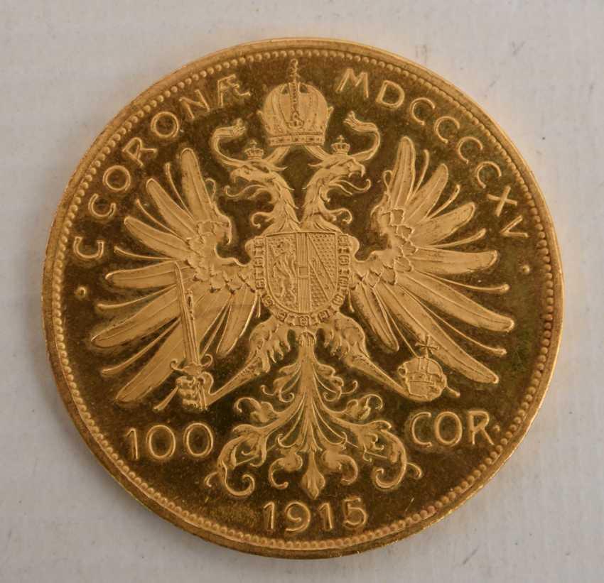 Goldmünze 100 Corona 1915 österreich Münze Franz Joseph I 4