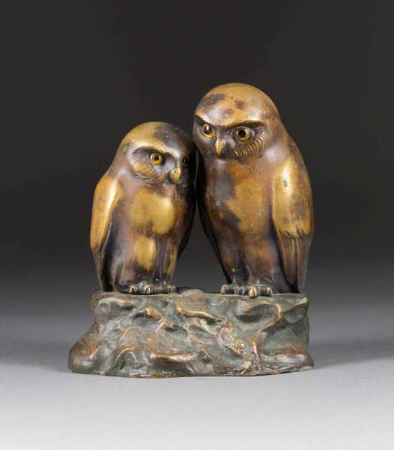 PAUL SCHMIDT FELLING 1835 - 1920 was working in Berlin, Two owls - photo 1