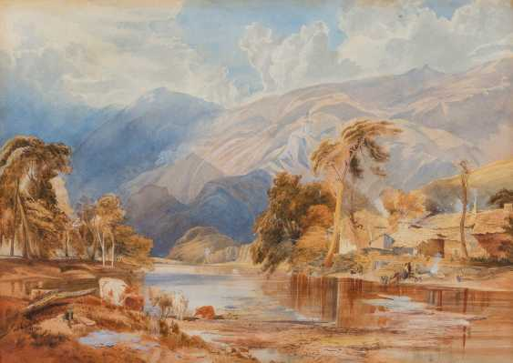ENGLISH WATERCOLOURIST Active in the 19th century. Century - photo 1