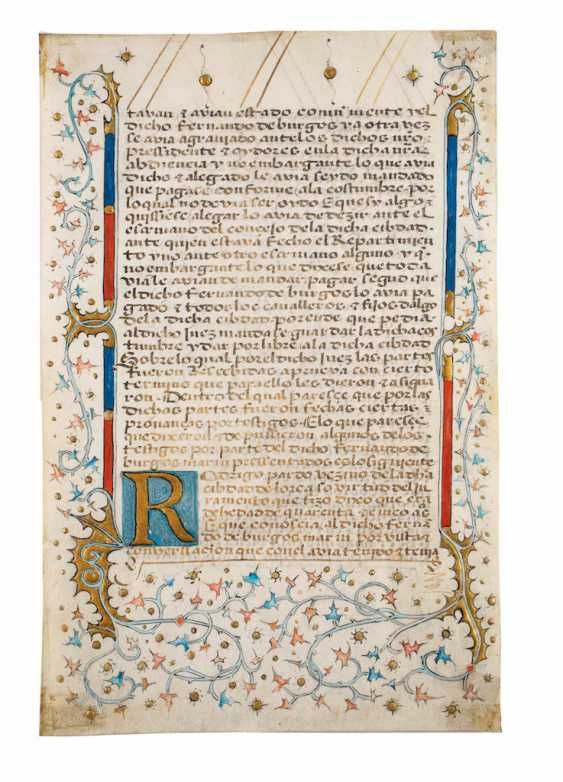 BOOK OF HOURS FRAGMENT WITH TENDRIL ORNAMENTS - photo 1