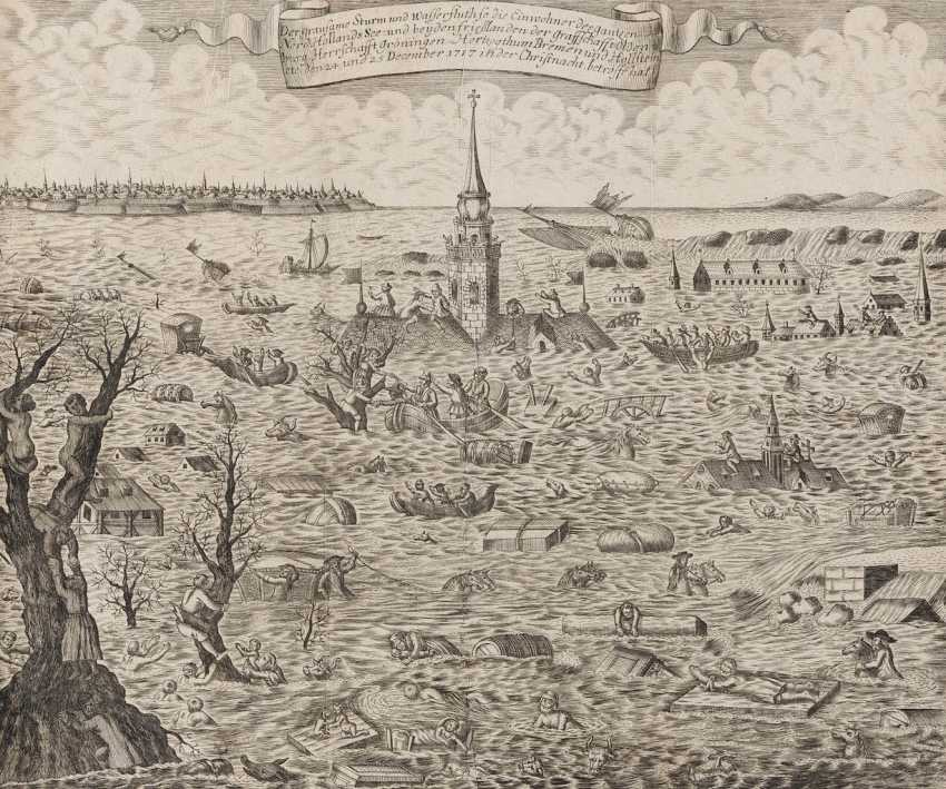 UNKNOWN engraver Working 1. Half of 18. Century, THE storm tide OF 24. AND 25. DECEMBER 1717 - photo 1