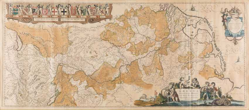 WILLEM JANSZOON BLAEU 1571 Alkmaar - 1638 Amsterdam RHINE RIVERS of EUROPE most renowned (...) - photo 1