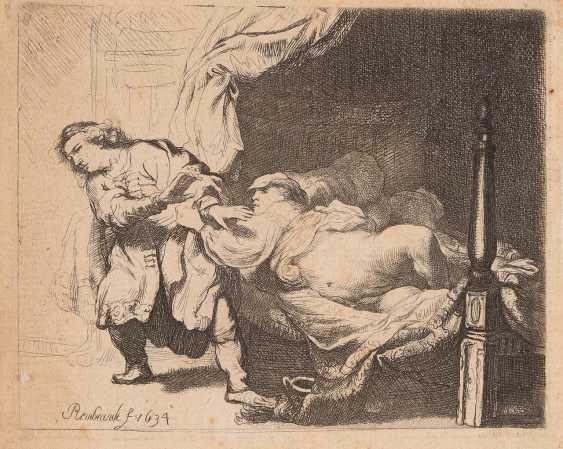 REMBRANDT HARMENSZOON VAN RIJN 1606 Leiden - 1669 Amsterdam JOSEPH UND POTIPHARS WEIB - photo 1