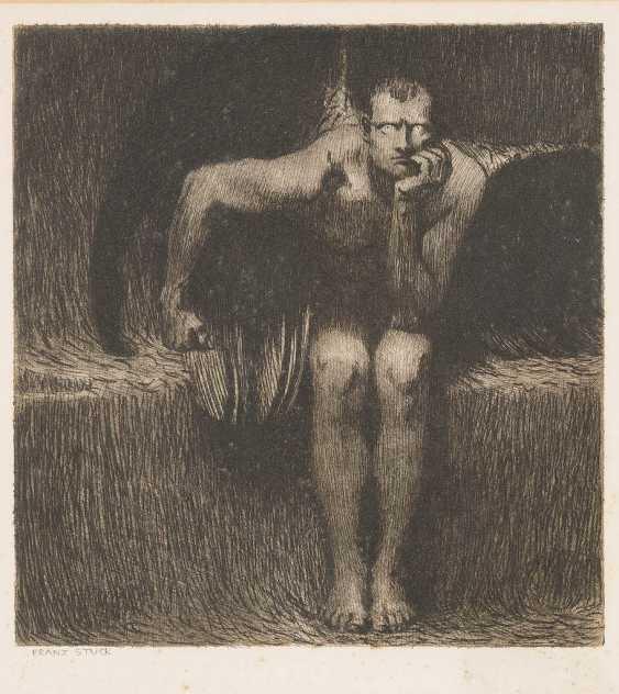 FRANZ VON STUCK 1863 Tettenweis - 1928 Decin LUCIFER - photo 1