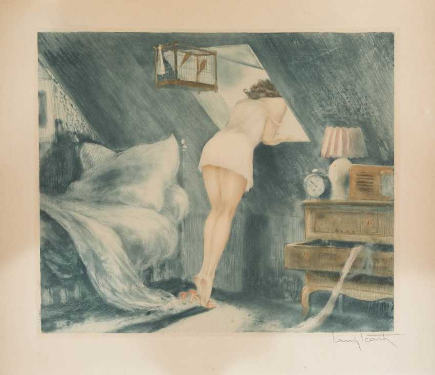 LOUIS ICART 1880 Toulouse - 1950 Paris IM MANSARDENZIMMER - photo 1