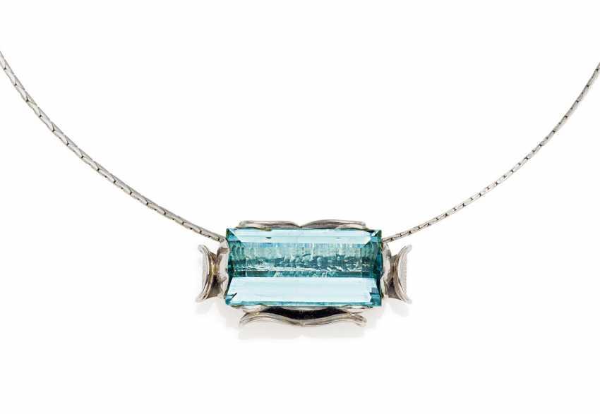 Aquamarine Pendant Chain.  - photo 1