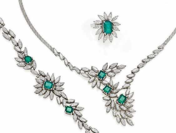 Smaragd-Diamant-Set.  - photo 1