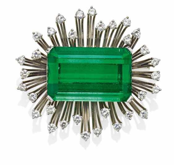 Turmalin-Diamant-Brosche.  - photo 1