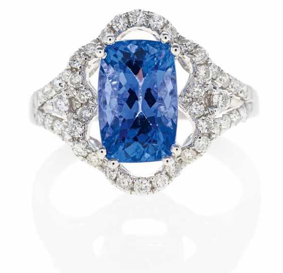 Tansanit-Diamant-Ring.  - photo 1