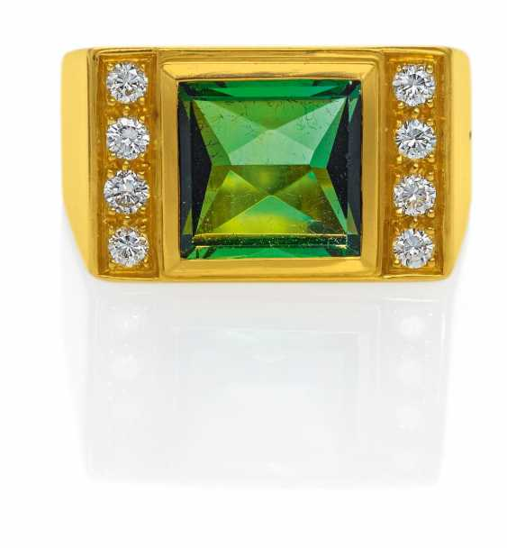 Turmalin-Diamant-Ring.  - photo 1
