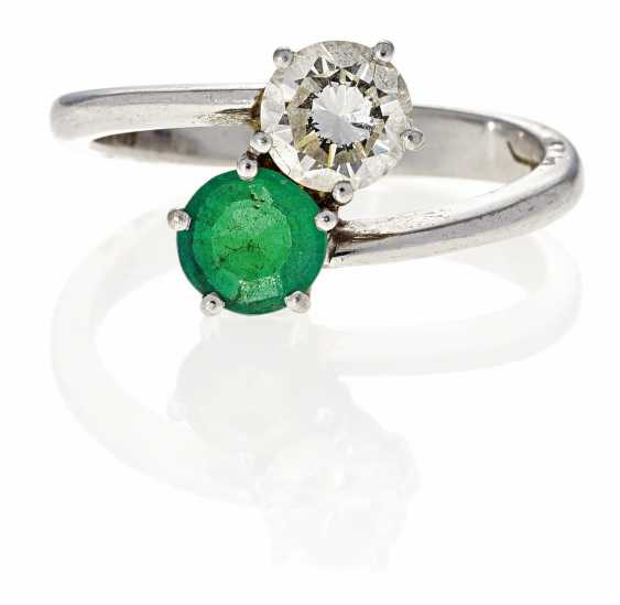 Smaragd-Diamant-Ring.  - photo 1