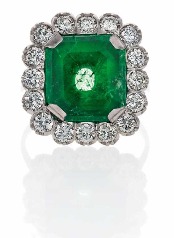 Smaragd-Diamant-Ring.  - photo 1