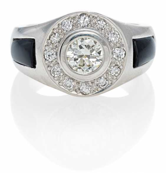 Diamant-Onyx-Ring. Wempe - photo 1