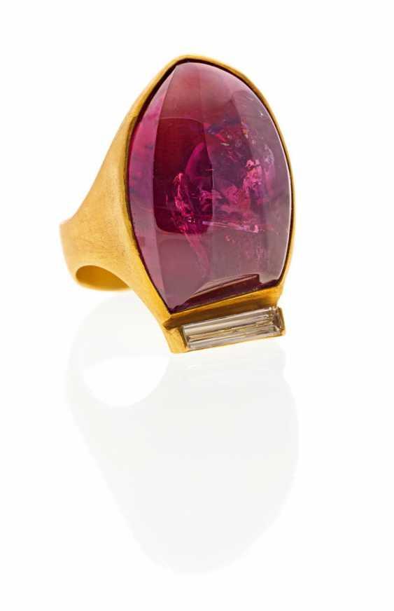 Turmalin-Diamant-Ring. Zobel, Michael-1942 Tanger (Marokko). - photo 1