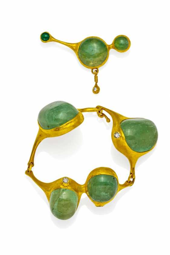 Emerald And Diamond Set. Zobel, Michael, 1942 Tangier (Morocco). - photo 1