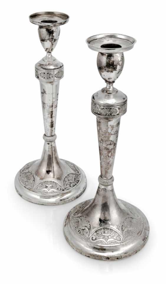 Pair Of Biedermeier Candlesticks - photo 1