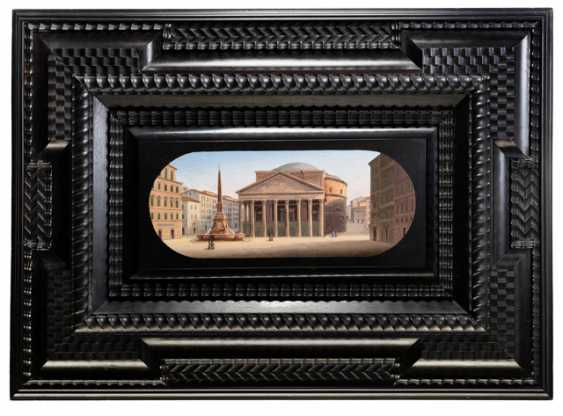 Fine micro-mosaic with a view of the Pantheon - photo 1
