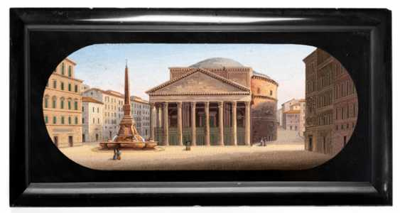 Fine micro-mosaic with a view of the Pantheon - photo 2