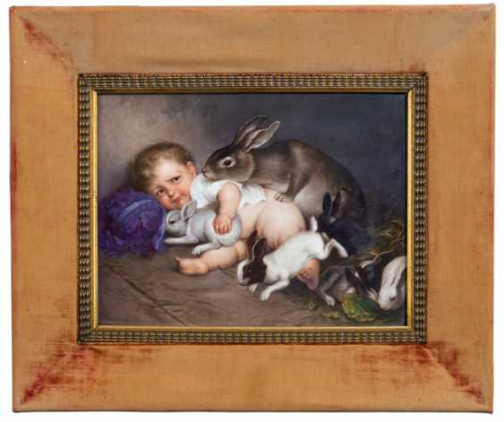 """Porcelain Picture Plate - """"In 1000 Fears"""" - photo 2"""